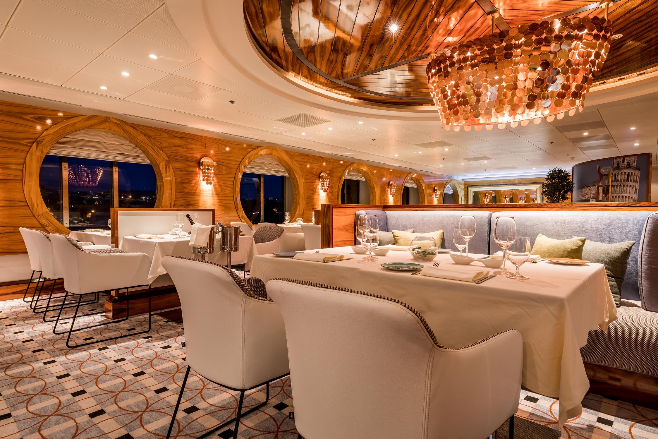 Das Restaurant La Spezia auf der Mein Schiff Herz