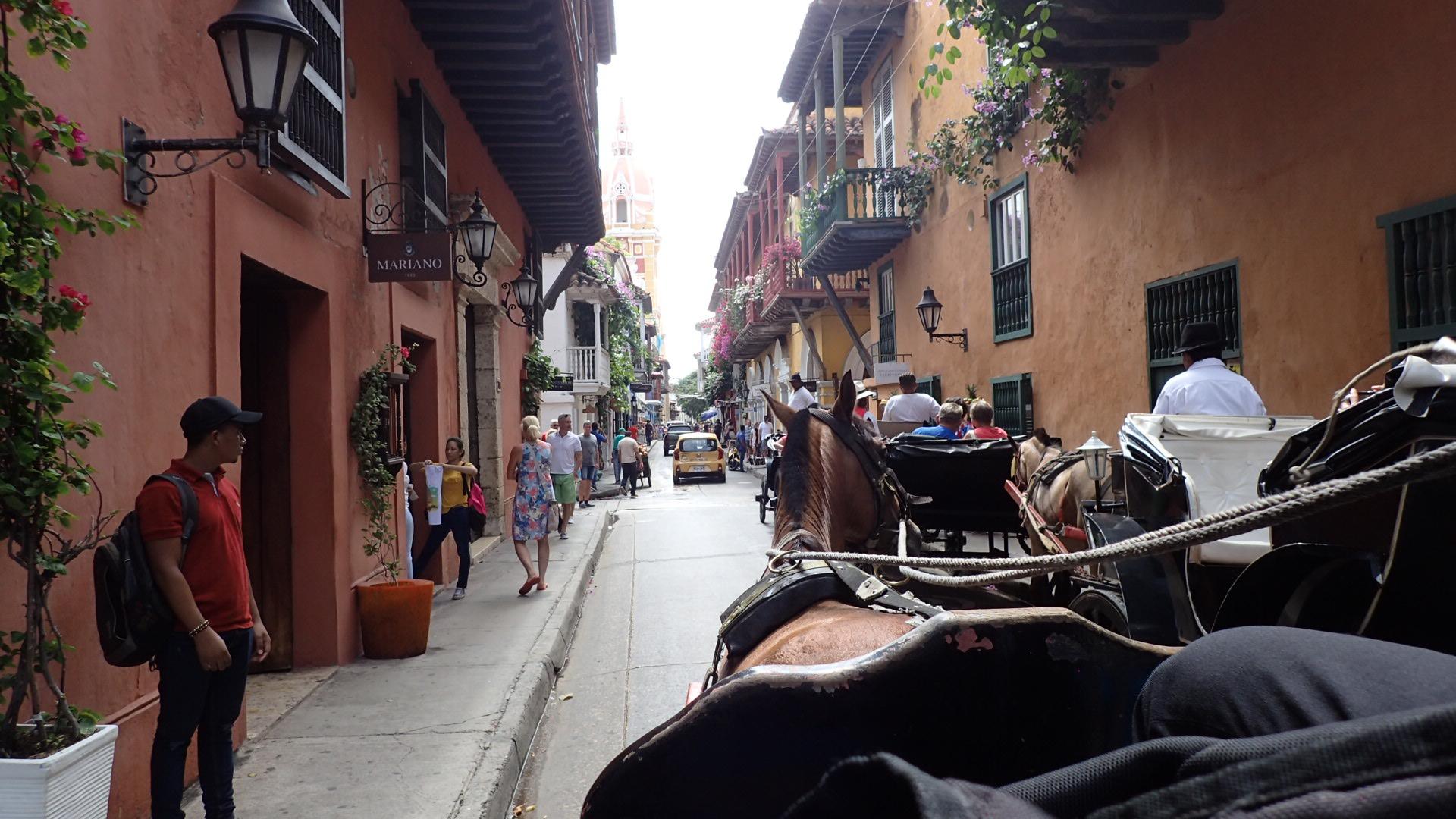 Mein Schiff Erlebnis: Pferdekutschen fahrt in Cartagena