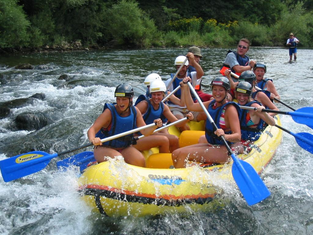 Rafting in der grünen Natur von Istrien